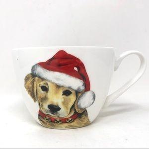 Happy Holiday Coffee Mug Yellow Labrador Santa Hat